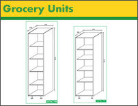 DIY Kitchen grocery cabinets
